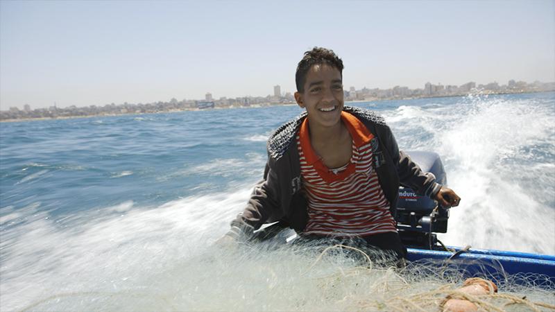 Akram und die Mauer im Meer